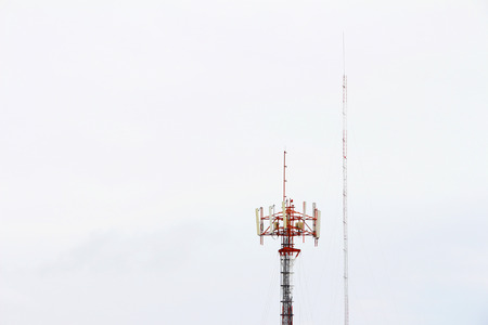 communication tower: Communication Tower on sky background