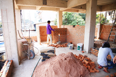 residential construction: Construction Industry, House, Residential Structure, frame, Residential District, Construction Site, Architecture, Incomplete, Construction Material, Timber, Plywood, Oriented Strand Board, storey, Composite Material.