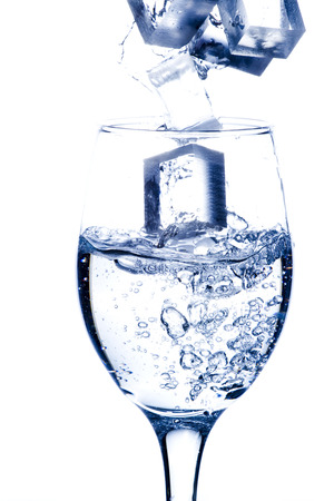 molted: Glass of Sparkling Water Stock Photo