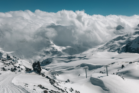 elbrus: View from the slope of mount Elbrus.