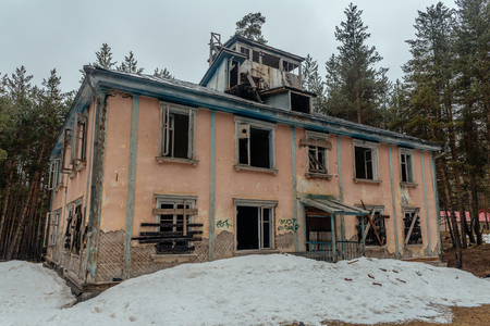 geologists: Old, abandoned house of USSR geologists and meteorologists