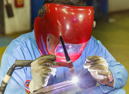 welding metal: Welding work