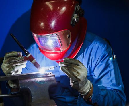 welding work by TIG welding 写真素材