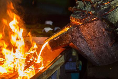 cast iron maufacturing process Stock Photo