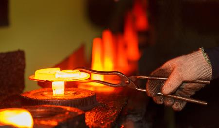 Warmsmeedwerk productielijn Stockfoto