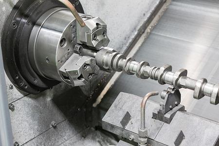 turning operation: turning cam shaft by high accuracy CNC lathe