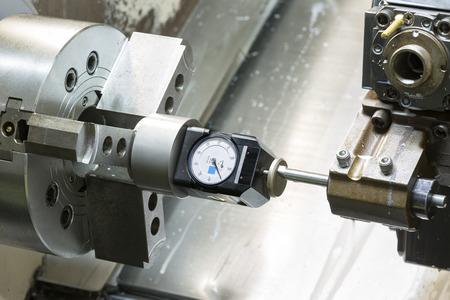 tool chuck: Operator setup tool and setting tool zero position of CNC turning machine before machining