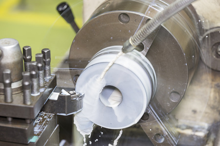 turning: drilling and turning mold part by turning and lathe machine