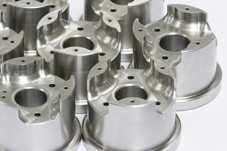 floor machine: mold and die parts machining by high precision CNC machining Stock Photo