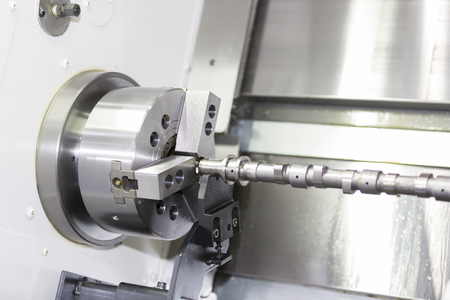 tool chuck: automotive industrial metal work machining process by cutting tool on CNC lathe