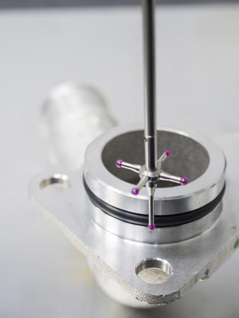 dimension: inspection automotive aluminum machining parts dimension by CMM measuring machine