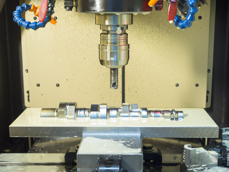 machining: Machining precision mold and die by CNC machining center Stock Photo