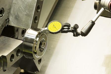 setup runout before machining high precision automotive part by CNC lathe