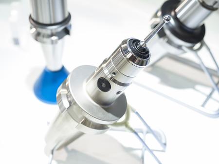 machining: machining work parts zero setting prob Stock Photo