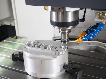 automated tooling: CNC machining center cutting mold by endmill cad cam