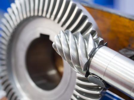 high precision automotive gear box close-up