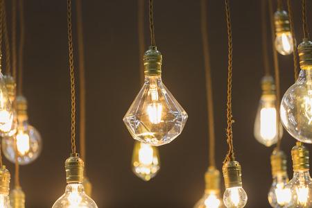 classic light bulb: decor room by LED light bulb hang from ceiling