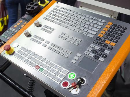 end mill: CNC Machine control panel closup