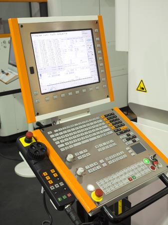 tool and die: CNC Machine control panel closup