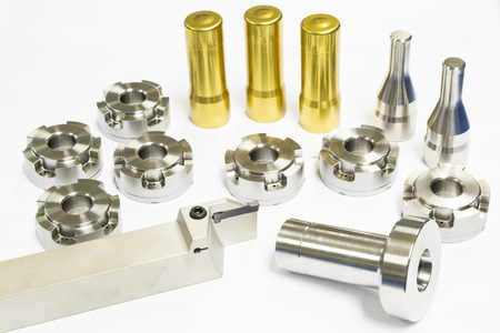 alta precisión de mecanizado de moldes de automoción y mueren partes del proceso de forja Foto de archivo