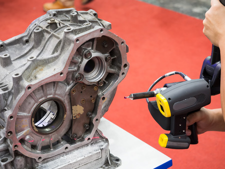 Inspektion Automobil-Teil Dimension von 3D-Scan-Messmaschine Standard-Bild - 66729054