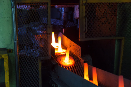 hardening: high precision hot forging product, automotive part production by hot forging process, automatice line hot forging