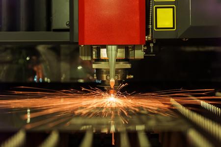 High precision CNC laser welding metal sheet, high speed cutting, laser welding, laser cutting technology, laser welding machine Stockfoto