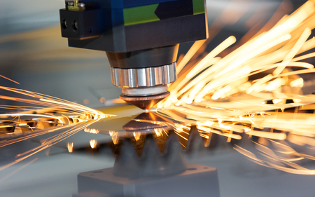 High precision CNC laser welding metal sheet, high speed cutting, laser welding, laser cutting technology, laser welding machine 写真素材