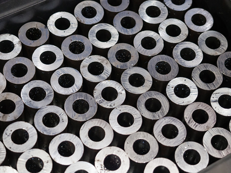 high precision steel automotive part manufacturing by CNC machining process, mass production part, high accuracy machining part Banque d'images