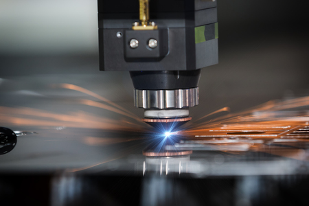High precision CNC laser welding metal sheet, high speed cutting, laser welding, laser cutting technology, laser welding machine Foto de archivo