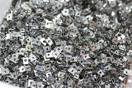 high precision stamping part for automotive industrial, stamping and assembly part Standard-Bild