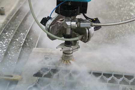 waterjet metal cutting by cnc programing Zdjęcie Seryjne