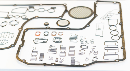 gasket for automotive part engine. gasket packing high production technology and engineering part for car, truck, and machine part industrial Stok Fotoğraf
