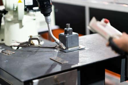 Welding precision part by mig welding process, high technology automatic mig welding, precision welding part