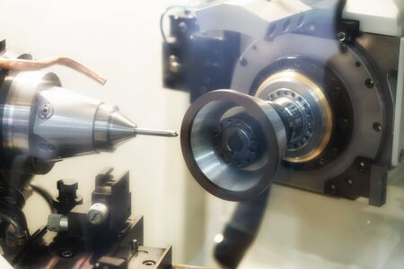 High precision carbide cutting tool grinding by CNC automatic grinding machine, High accuracy tool grinding process for industrial use. 写真素材