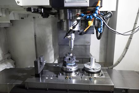 machining precision part by CNC machining center, mold, die and high accuracy part for automotive industrial 写真素材