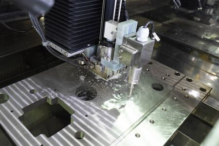 CNC wire cut machine cutting high precision mold parts