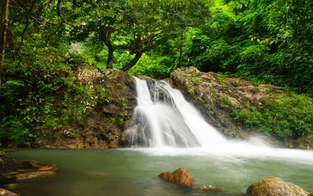 The waterfall sarika National Park, nakon-nayok thailand. photo