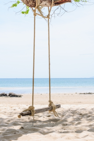Beautiful and swing tropical beach at sai kaew beach , Thailand. Stock Photo