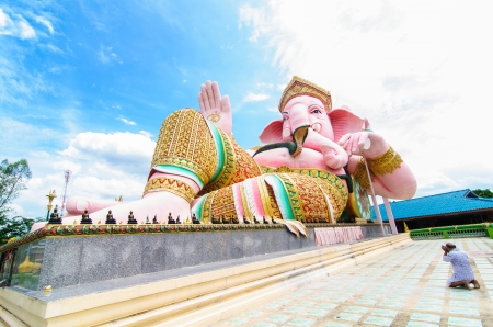 The faith and belief are pink Ganesha. Public place photo
