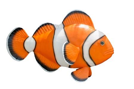 nemo: Statue of cartoon fish nemo orange color