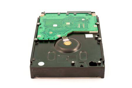 sata: sata hard disk drive on white background