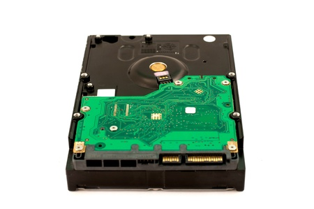 sata hard disk drive on white background photo
