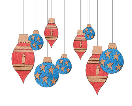 Christmas ornaments collection on a white background Stock Photo - 16332028