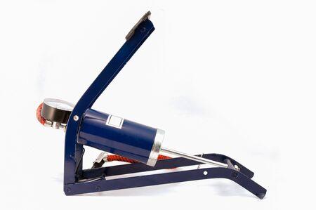 pumper: Foot air pumper tool on white background
