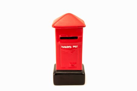 Model Thailand post box on white background photo