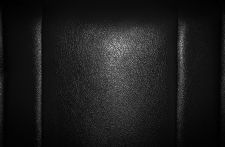 Black leather for texture from car seats