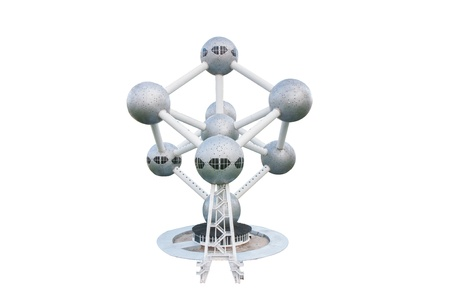 atomium is reproduced to mini size in mini siam, Thailand.