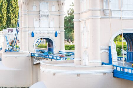 reproduced: Tower bridge is reproduced to mini size in mini siam, Thailand.
