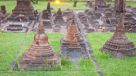 reproduced: Wat mahathart is reproduced to mini size in mini siam, Thailand.